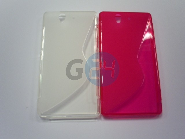 L36i xperia z pink hullámos szilikontok Xperia Z  E003389
