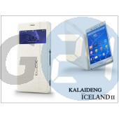 Sony xperia z3 (d6603) flipes tok - kalaideng iceland 2 series view cover - white KD-0328
