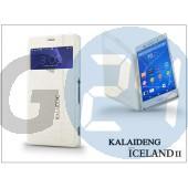 Sony xperia z3 (d6603) flipes tok - kalaideng iceland 2 series view cover - white KD-0328