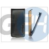 Slim flip bőrtok - sony xperia u (st25i) - fekete PT-816