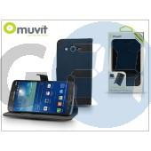 Samsung sm-g7105/7105 galaxy grand 2 flipes tok kártyatartóval - muvit slim folio - black I-MUSLI0474