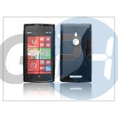 Nokia lumia 925 szilikon hátlap - s-line - fekete PT-1090