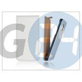 Slim flip bőrtok - sony xperia j (st26i) - fehér PT-1124