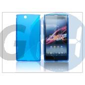 Sony xperia z ultra (c6802) szilikon hátlap - s-line - kék PT-1193
