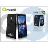 Nokia lumia 925 hátlap - muvit minigel glazy - black I-MUSKI0199