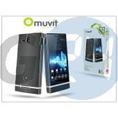 Sony xperia u (st25i) hátlap képernyővédő fóliával - muvit clear back - transparent I-MUCRY0007