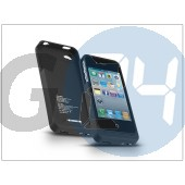 Apple iphone 4/4s akkumulátoros hátlap - 1900 mah - fekete EX-430