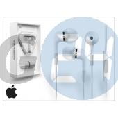 Apple iphone 3g/3gs/4/4s/5 eredeti távirányítós, sztereó headset mikrofonnal - fehér - ma850g/b APL-0079