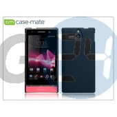Sony xperia u (st25i) hátlap - case-mate barely there - black CM020767