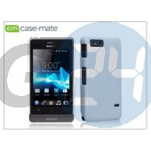 Sony xperia go (st27i) hátlap - case-mate barely there - white CM022238