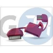 Apple iphone 2g/3g/3gs/4/4s/ipad/ipad2/ipod usb kulcstartó adatkábel - pink HD-CA17PK