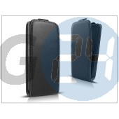 Slim flexi flip bőrtok - alcatel one touch s pop 4030d/telenor one touch mini - fekete PT-1599