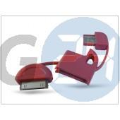 Apple iphone 2g/3g/3gs/4/4s/ipad/ipad2/ipod usb kulcstartó adatkábel - piros HD-CA17RD