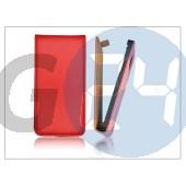 Slim flip bőrtok - sony xperia j (st26i) - piros PT-1217