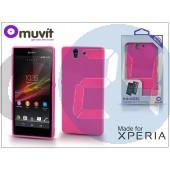 Sony xperia z (c6603) hátlap - made for xperia muvit minigel - pink I-SESKI0024