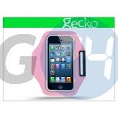 Apple iphone 5/5s kartok sportoláshoz - gecko sports armband - pink GG098