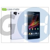 Sony xperia z (c6603) hátlap - case-mate barely there - white CM025827