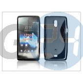 Sony xperia t (lt30p) szilikon hátlap - s-line - fekete PT-810