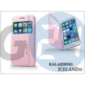 Apple iphone 6 plus flipes tok - kalaideng iceland 2 series view cover - pink KD-0297