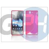 Sony xperia z (c6603) szilikon hátlap - pink - s-line PT-914