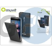 Nokia lumia 925 flipes tok képernyővédő fóliával - muvit slim - black I-MUSLI0292
