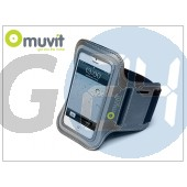 Apple iphone 4/4s/5/5c/5s kartok sportoláshoz - muvit armband - grey I-MUARM0009