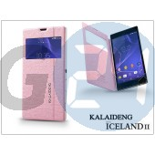 Sony xperia t3 (d5103) flipes tok - kalaideng iceland 2 series view cover - pink KD-0312