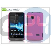 Sony xperia go (st27i) hátlap - case-mate smooth - pink CM022875