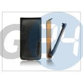 Slim flip bőrtok - sony xperia miro (st23i) - fekete PT-847