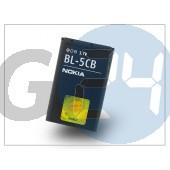Nokia 100/1616/1800/asha 311 gyári akkumulátor - li-ion 800 mah - bl-5cb (csomagolás nélküli) NOK-0492