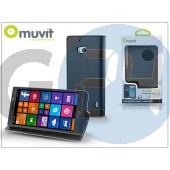 Nokia lumia 930 flipes tok kártyatartóval - muvit wallet folio - black I-MUSNS0123