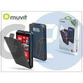 Nokia lumia 820 flipes tok képernyővédő fóliával - muvit slim - black I-MUSLI0134