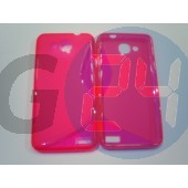 Alcatel 6034 - idol s pink hullámos szilikontok OT6034  E005657