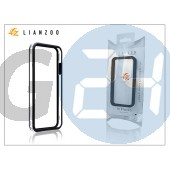 Apple iphone 5 védőkeret - bumper - gecko lianzoo - clear/black GG153