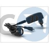 Alcatel gyári usb hálózati töltő adapter + micro usb kábel - 5v/1a - s005uv0500100 + cda3122005c2 black (csomagolás nélküli) ALC-0011