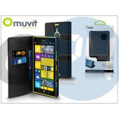 Nokia lumia 1520 flipes tok kártyatartóval - muvit slim and stand - black I-MUSNS0094