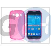 Samsung sm-g357fz galaxy ace 4 szilikon hátlap - s-line - pink PT-2109