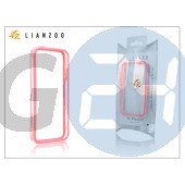 Apple iphone 5 védőkeret - bumper - gecko lianzoo - clear/pink GG154