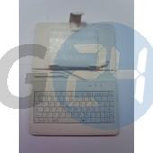 7 univerzális billentyűzetes kinyitós tok - fehér Táblagép tokok  E003813