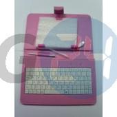 7 univerzális billentyűzetes kinyitós tok - pink Táblagép tokok  E003814