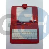 7 univerzális billentyűzetes kinyitós tok - piros Táblagép tokok  E003954