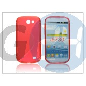 Samsung i8730 galaxy express szilikon hátlap - s-line - piros PT-1278