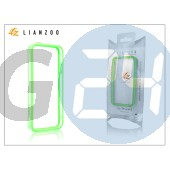 Apple iphone 5 védőkeret - bumper - gecko lianzoo - clear/green GG158