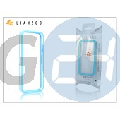 Apple iphone 5 védőkeret - bumper - gecko lianzoo - clear/blue GG156