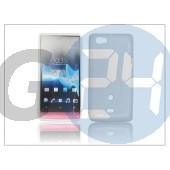 Sony xperia miro (st23i) szilikon hátlap - fehér - s-line PT-904
