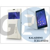 Sony xperia t3 (d5103) flipes tok - kalaideng iceland 2 series view cover - white KD-0311