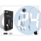 Apple iphone 3g/3gs/4/4s eredeti távirányítós, sztereó headset mikrofonnal - fehér - mb770g/a APL-0009