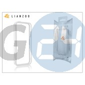 Apple iphone 5 védőkeret - bumper - gecko lianzoo - clear/white GG155