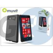 Nokia lumia 820 hátlap - muvit minigel glazy - black I-MUSKI0143
