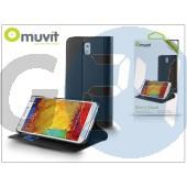 Samsung sm-n7505 galaxy note 3 neo flipes tok kártyatartóval - muvit slim and stand - black I-MUSNS0046
